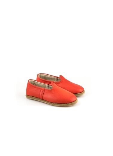Aintap %100 Hakiki Deri Çocuk Ayakkabı Kırmızı Gaziantep Yemeni Kırmızı